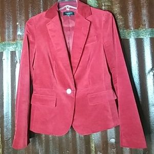 Talbots Christmas Red Velvet Style Jacket